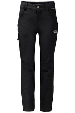 jack wolfskin softshell-broek »activate pants kids« zwart