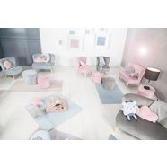 roba »lil sofa« hocker met bergruimte roze