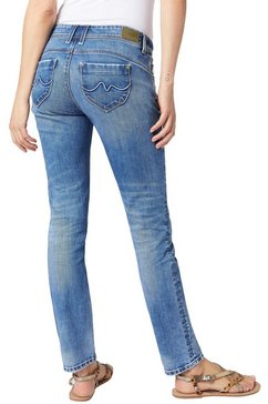 pepe jeans skinny jeans »new brooke« blauw