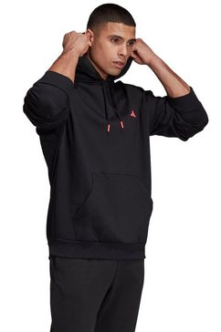 adidas performance hoodie »urban q3 hoody« zwart