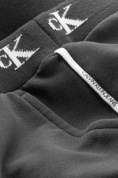 calvin klein sweatbroek »monogram str slim« zwart