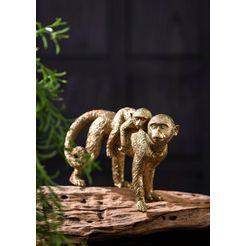 wittkemper living decoratief figuur »affen« goud