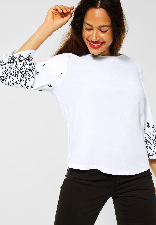 STREET ONE Shirt met 3/4-mouwen Met borduurwerk - gratis ruilen op otto.nl