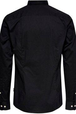 only  sons overhemd met lange mouwen »bart life lorganic shirt« zwart