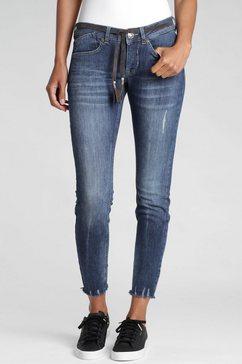 gang skinny fit jeans »faye« blauw