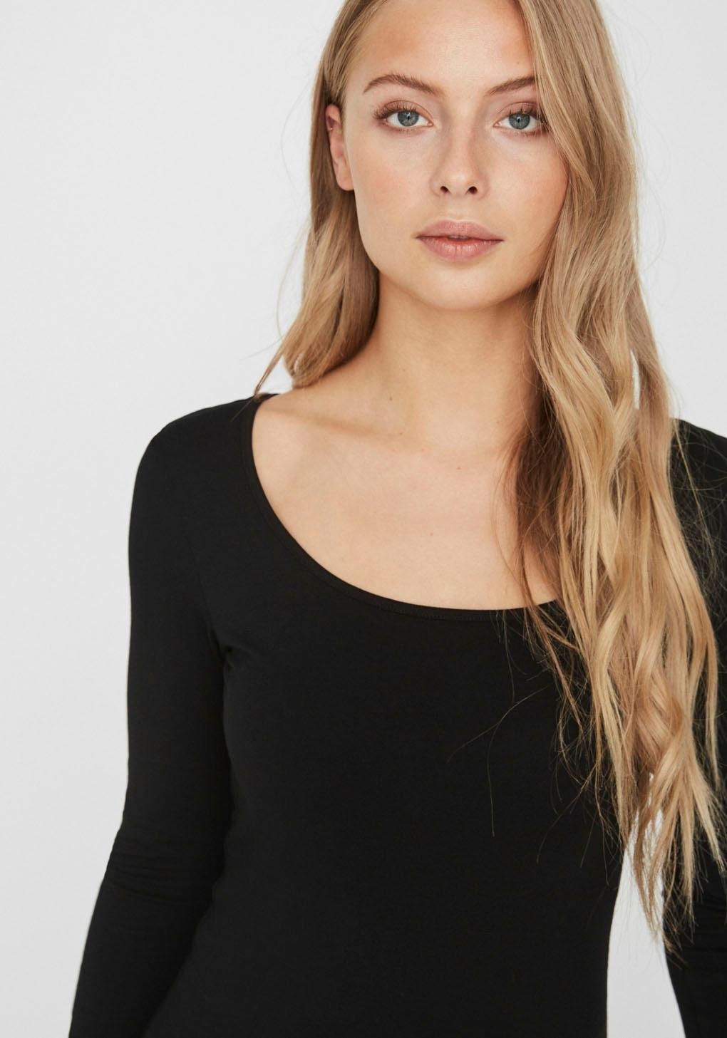 VERO MODA shirt met lange mouwen »VMMAXI« online kopen op otto.nl