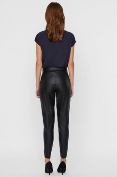 vero moda imitatieleren broek »vmjanni« zwart