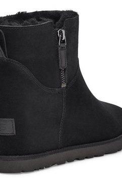 ugg laarsjes met sleehak »classic femme zip mini« zwart