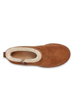 ugg laarsjes met sleehak »classic femme zip mini« bruin
