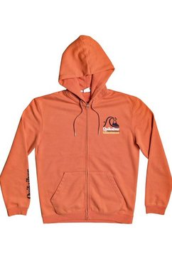 quiksilver capuchonsweatvest »sweet as slab« oranje
