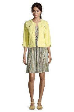 betty barclay jeansjack »mit rundhalsausschnitt« geel