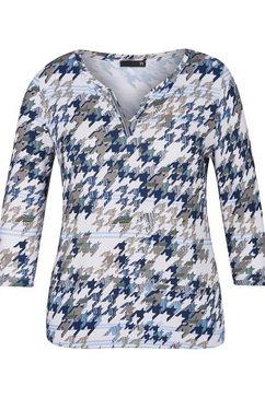 thomas rabe shirt met v-hals wit