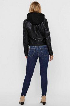 vero moda imitatieleren jack »vmcortney« zwart