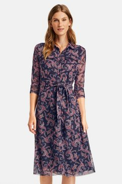 gerry weber blousejurkje »midilanges meshkleid mit paisleymuster« blauw