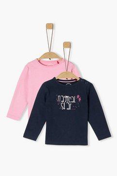 s.oliver set van 2-shirts met lange mouwen_voor baby's wit
