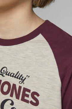 jack  jones junior shirt met lange mouwen »jjeraglan logo tee l-s j« rood