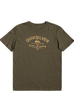 quiksilver t-shirt »creators of simplicity« groen