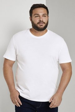 tom tailor men plus t-shirt »basic t-shirts im doppelpack« wit