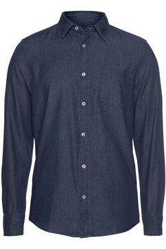 united colors of benetton overhemd met lange mouwen blauw