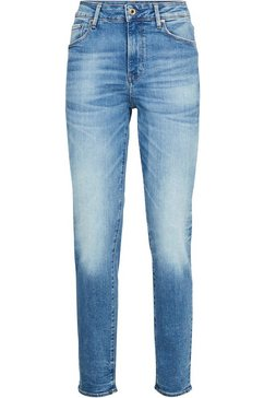g-star raw high-waist jeans »3301 high straight 90's a« blauw