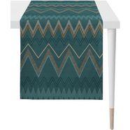 apelt »indira, loft style, jacquard« tafelloper groen