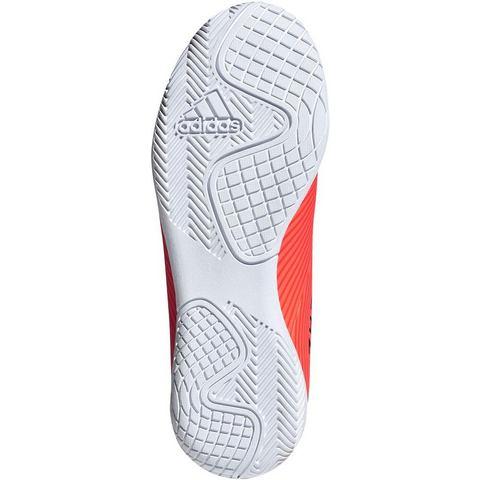Adidas Zaalvoetbalschoenen voor kinderen NEMEZIZ 4 oranje-zwart