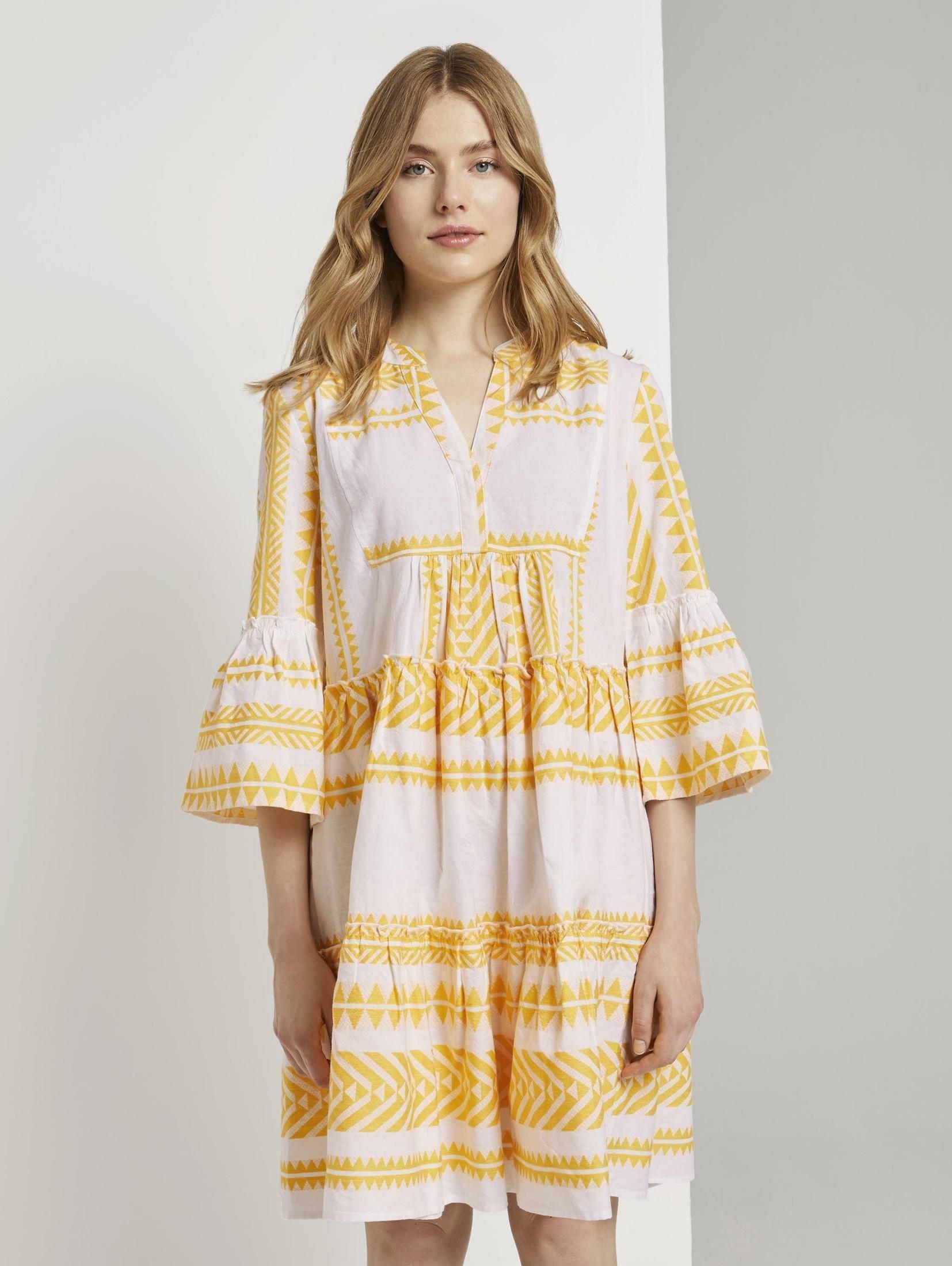 TOM TAILOR mini-jurk »Luftiges Boho-Kleid mit Volants« - verschillende betaalmethodes