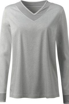 waeschepur pyjamashirt met mesh zilver