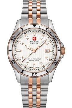 swiss military hanowa zwitsers horloge »flagship lady, 06-7161.2.12.001« zilver