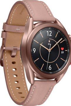 samsung »galaxy watch3, edelstahl, 41 mm, lte (sm-r855)« smartwatch goud