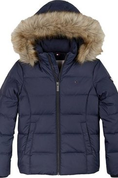 tommy hilfiger winterjack »essential basic down jacket« blauw