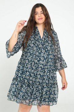 paprika jurk met print »v-hals met bloemen« groen
