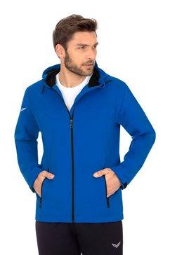 trigema outdoor jas met capuchon »met reflecterende trigema-vleugels« blauw