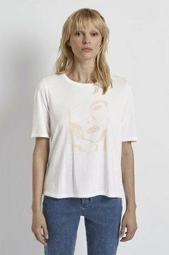 tom tailor mine to five t-shirt »t-shirt mit motivprint« wit