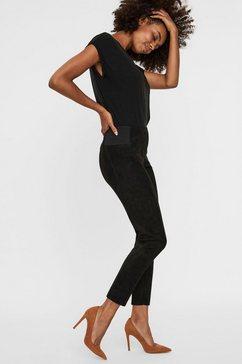 vero moda imitatieleren broek »vmcava« zwart