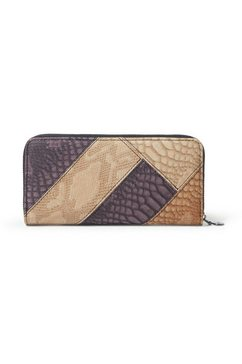 desigual portemonnee »wallets, mone_dark phoenix zip around« bruin