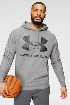 under armour hoodie »rival fleece big logo hood« grijs