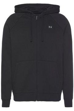 under armour capuchonsweatvest »rival fleece full zip hoodie« zwart