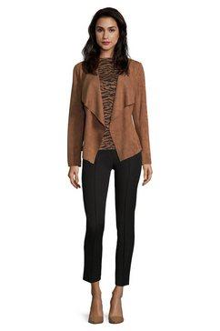 betty barclay korte blazer »ohne verschluss« bruin
