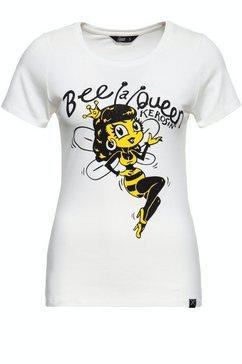 queenkerosin shirt met print »bee a queen« wit