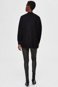 selected femme trui met staande kraag »slflulu enica« zwart