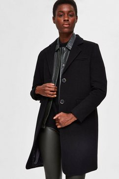 selected femme wollen jas »slfelina« zwart