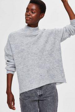 selected femme trui met staande kraag »slflulu enica« grijs