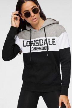 lonsdale hoodie »penbryn« zwart