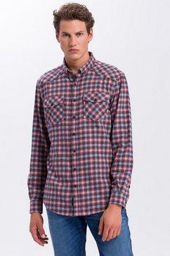 cross jeans flanellen overhemd »35304« blauw