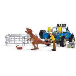 schleich »dinosaurs, gelaendewagen mit dino-aussenposten (41464)« speelgoedauto multicolor