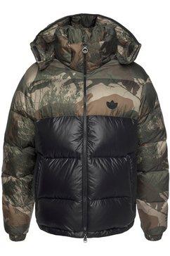 adidas originals tweezijdig te dragen jack »down regen camo« zwart