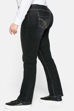 sheego rechte jeans zwart