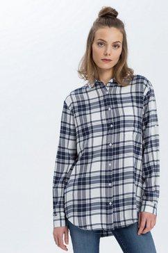 cross jeans overhemdblouse »75225« blauw