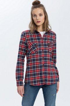 cross jeans overhemdblouse »75232« blauw